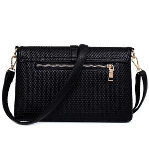 Concise Embossing and Solid Color Design Crossbody Bag For Women -