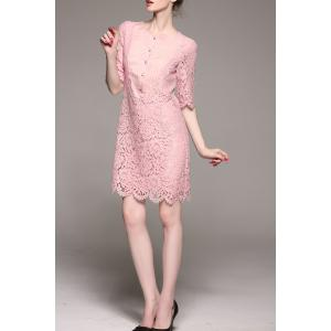 Sheath Mini Lace Dress -