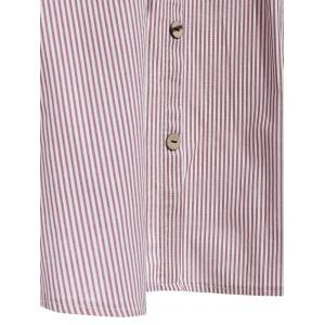 Preppy Style Pinstriped A-Line Skirt For Women -