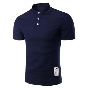 Trendy Solid Color Button Design Henley Shirt For Men