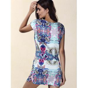 Ethnic Print Mini Shift Dress -
