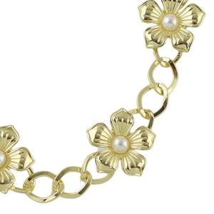 Vintage Faux Pearl Flower Elastic Hair Band For Women -