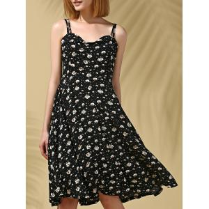 Stylish Strappy Floral Print Midi Dress For Women