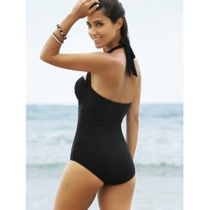 Lace Panel One-Piece Strapless Bathing Suit -