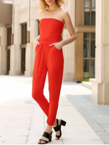 New Fitted Strapless Jumpsuit