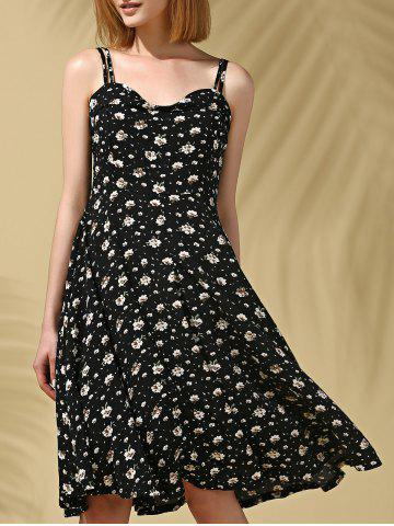 Strappy Floral Print Midi Dress For Women