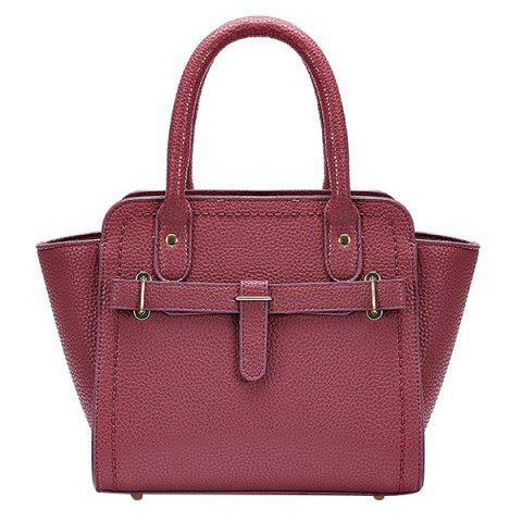 Hot Simple Stitching and Solid Color Design Tote Bag For Women