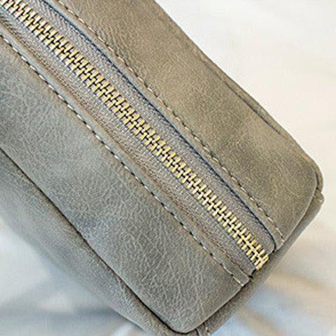 Shops Simple Square Shape and Solid Color Design Crossbody Bag For Women - GRAY  Mobile