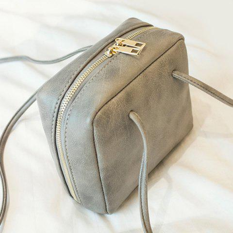 Outfits Simple Square Shape and Solid Color Design Crossbody Bag For Women - GRAY  Mobile