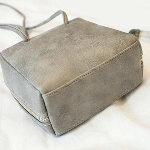 Fancy Simple Square Shape and Solid Color Design Crossbody Bag For Women - GRAY  Mobile