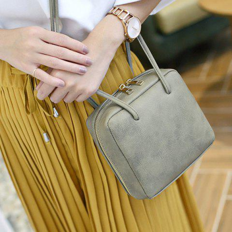 Discount Simple Square Shape and Solid Color Design Crossbody Bag For Women - GRAY  Mobile