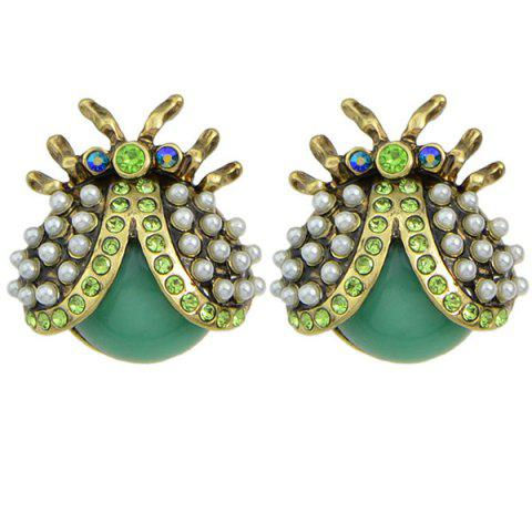 Store Faux Pearl Insect Earrings