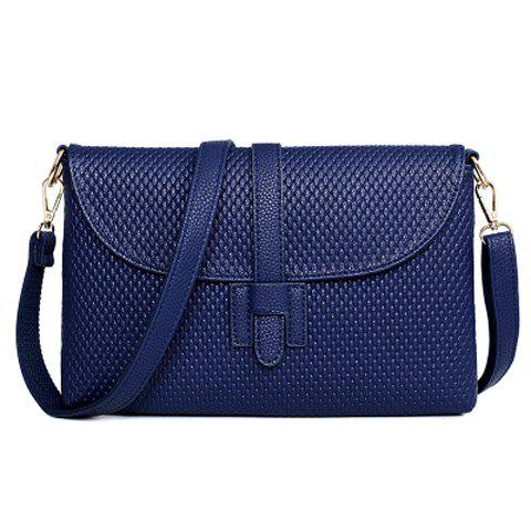 Affordable Concise Embossing and Solid Color Design Crossbody Bag For Women