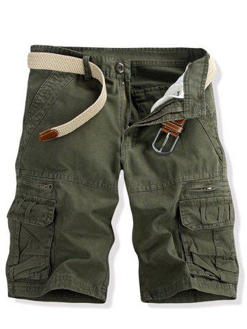 Shops Casual Multi-pockets Solid Color Cargo Shorts For Men