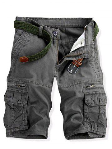 New Casual Multi-pockets Solid Color Cargo Shorts For Men