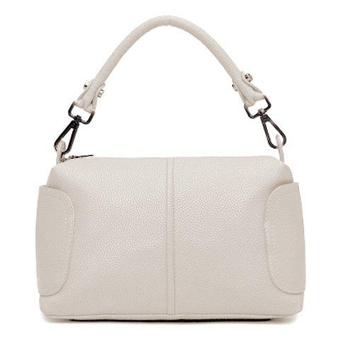 Sale Trendy Zip and Solid Colour Design Tote Bag For Women -   Mobile