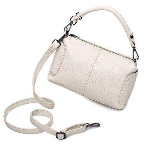 Chic Trendy Zip and Solid Colour Design Tote Bag For Women -   Mobile