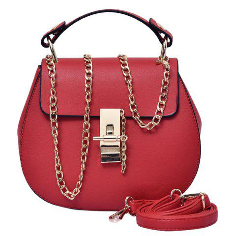 Shop Simple Hasp and Solid Color Design Tote Bag For Women