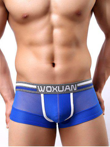 Buy Breathable See-Through Low Waist U Convex Pouch Sporty Boxer Briefs For Men