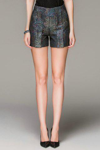 Outfit Zippered High Waisted Sequined Shorts