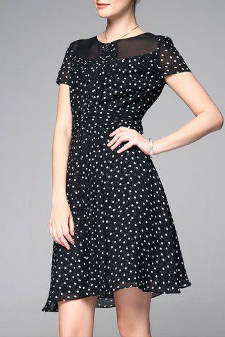 Shop Polka Dot Chiffon Dress