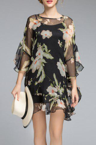 Trendy Cami Dress and Floral Ruffles Dress Twinset