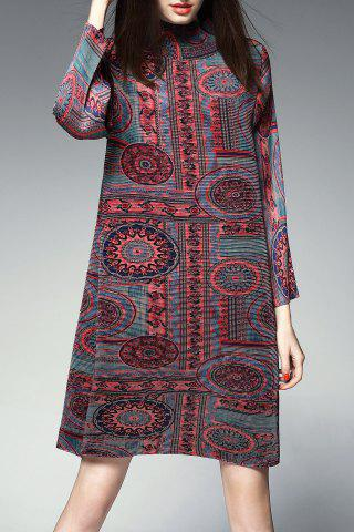 Sale Pleated Ethnic Printed Dress
