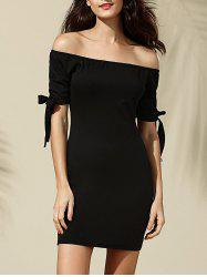 Trendy Off-The-Shoulder Bowknot Bodycon Dress For Women -