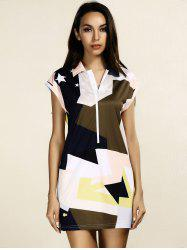 Women's Stylish Color Block Star Print Dress