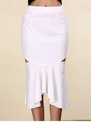 Women's Stylish Pure Color Mermaid Cut Out Skirt