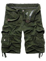 Men's Fashion Loose Fit Multi-Pockets Cargo Shorts - ARMY GREEN