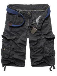 Men's Fashion Loose Fit Multi-Pockets Cargo Shorts -