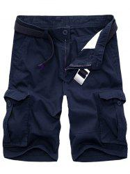 Men's Casual Loose Fit Multi-Pockets Cargo Shorts -