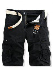 Casual Multi-pockets Solid Color Cargo Shorts For Men