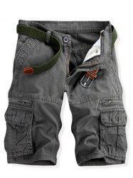 Casual Multi-pockets Solid Color Cargo Shorts For Men -
