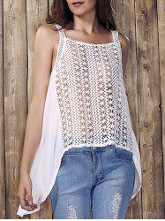 Hollow Out High Low Tank Top -