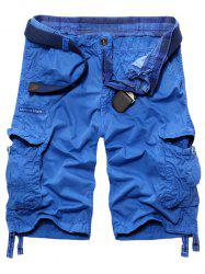 Loose Fit s 'Trendy Hommes  multi-poches Cargo Shorts - Azur