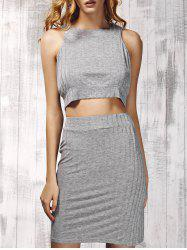 Ribbed Top and Skirt 2 Piece Club Dress