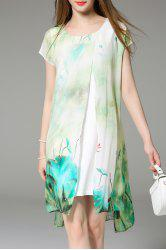 Faux Twinset Printed Dress -