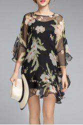 Cami Dress and Floral Ruffles Dress Twinset -
