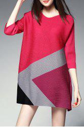 Color Block Mini Trapeze Dress