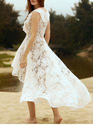 High Low Funky Short Wedding Dress -