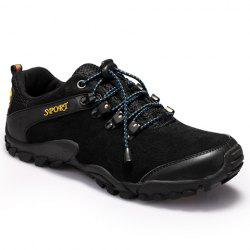 Trendy Splicing and Black Color Design Athletic Shoes For Men -