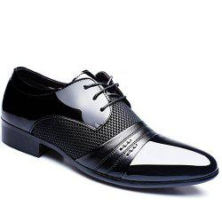 Trendy Splicing and Pointed Toe Design Formal Shoes For Men -