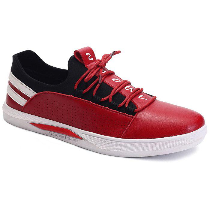 Outfits Stylish Striped and Splicing Design Casual Shoes For Men