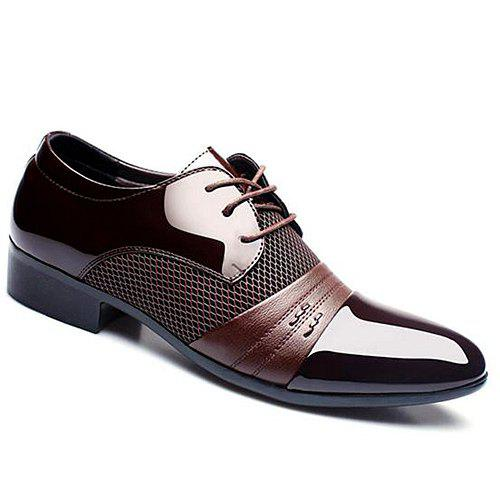 Latest Trendy Splicing and Pointed Toe Design Formal Shoes For Men
