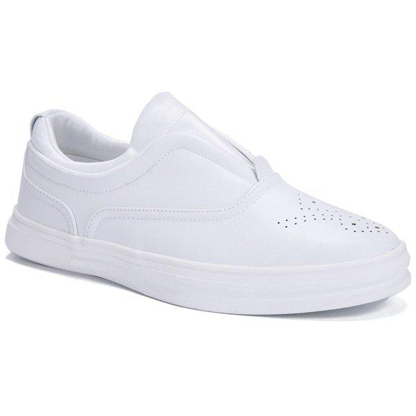 Shop Simple Solid Colour and Breathable Design Casual Shoes For Men