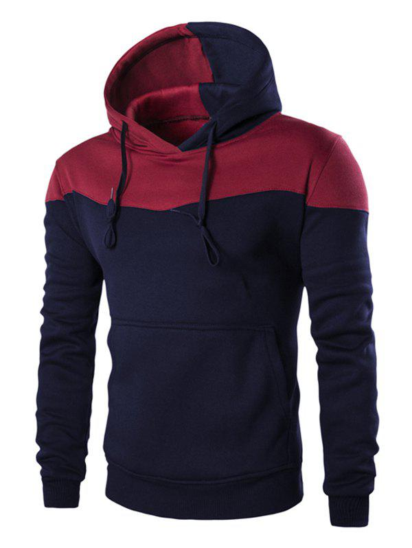 Outfit IZZUMI Classic Color Block Front Pocket Hooded Long Sleeves Hoodie For Men