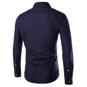 Solid Color Long Sleeves Zip Design Shirts For Men -