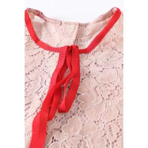 Bow Tied Lace Dress and Cami Dress Twinset -